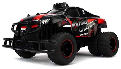 Velocity Toys 6 Tire Chariot Remote Control RC High Performance Truggy, 2.4 GHz Control System, Big Size 1:10 Scale (Colors May Vary)
