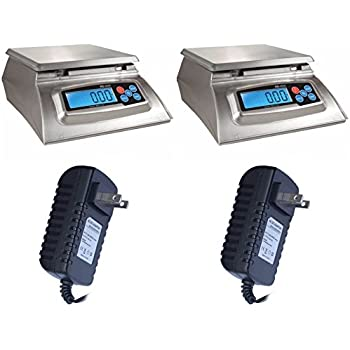 My Weigh KD-8000 Kitchen And Craft Digital Scales + My Weigh AC Adapters - 2-Pack