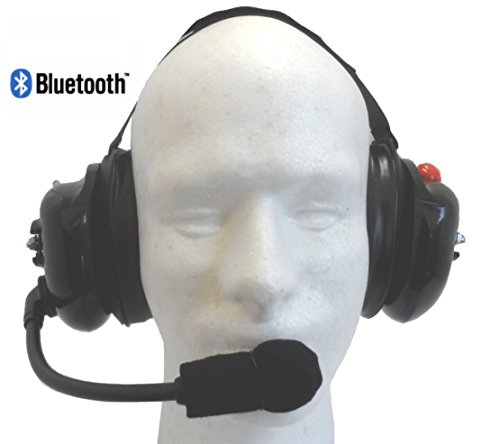 NASCAR H4300BT CREW 2 WAY Headset with Bluetooth with 3.5...
