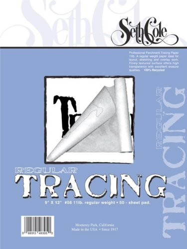 Tracing Paper Pad Size: 24'' x 19'' by Seth Cole