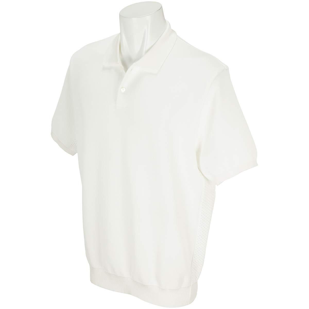 ナノユニバース nanouniverse 半袖シャツポロシャツ TGサイドアイレット撥水ポロニット半袖シャツ M オフホワイト B07SB3MY8W