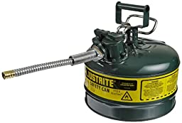 Justrite AccuFlow 7225420 Type II Galvanized Steel Safety Can with 5/8\
