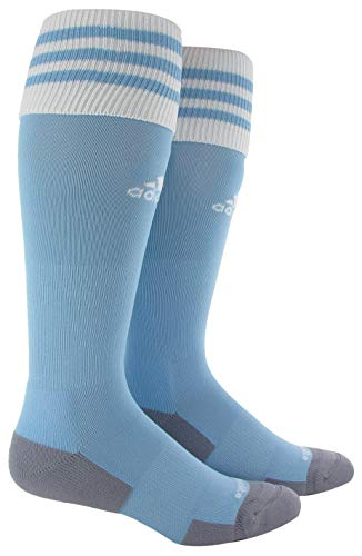 adidas Unisex Copa Zone Cushion II Soccer Sock (1-Pair), Argentina Blue/White, 9C-1Y