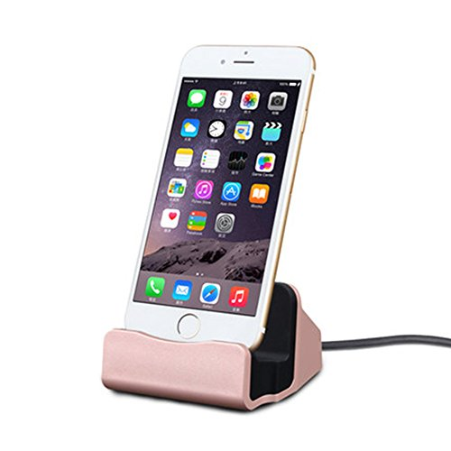 SHP IOS Charger Charging Docking Desktop Stand Station Cradle Sync Dock for iPhone 8 7 7P 6 6S Plus 5S 5 SE 5C (Desktop Sync Cradle)