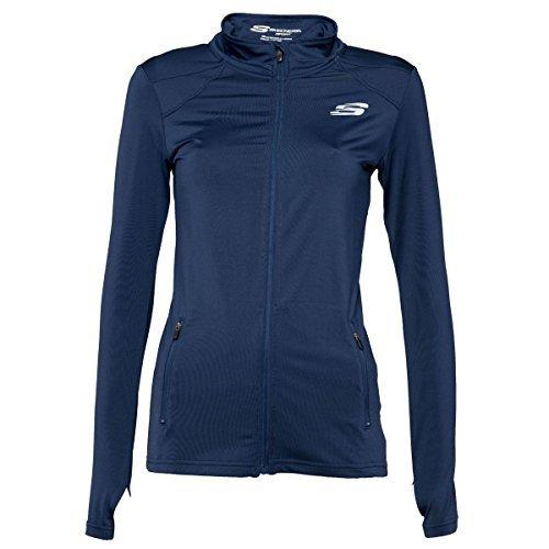 Skechers Ladies Running Jacket Funnel Neck Zip Up Branded Stretchy Fitness Coat