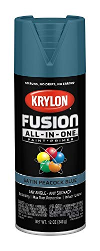 Krylon K02792007 Fusion All-in-One Spray Paint, Peacock Blue (Peacock Blue)