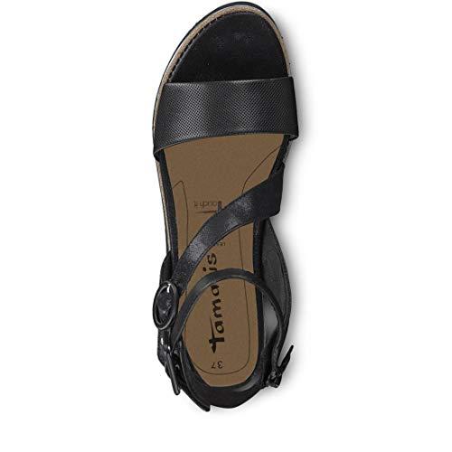 black Pulsera Con 28208 1 Tamaris 22 Mujer Sandalia Negro Para 1 1 YCxZnwqXv