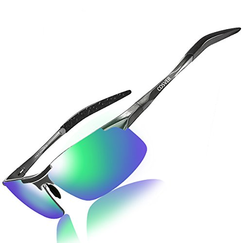 5cbee5344c COSVER Men s Polarized Sunglasses for Men Sports Driving Cycling Running  Fishing Golf Unbreakable Frame Metal Driver Sunglasses - Buy Online in Oman.