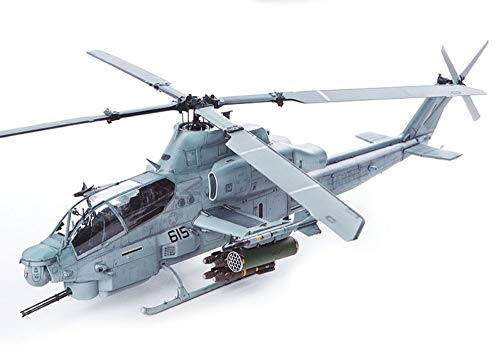 Academy 12127 1:35 Scale USMC US Marine Corps AH-1A Shark Mouth Plamodel Plastic Model Helicopter Airplane Kits Toy (Paint Not Included)