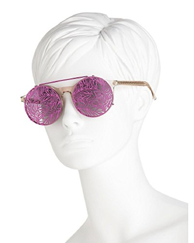 LINDA FARROW Matthew Williamson Clip On Clear Hot Pink Sunglasses MW139 - Williamson Shop Matthew