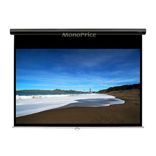 Monoprice Manual Projection Screen w/ Slow Retraction Mechanism - Matte White Fabric (84 inch, 1:1)