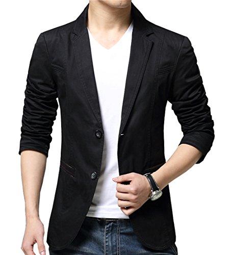 OUYE Men's 2 Button Cotton Casual Blazer 3X-Large - Blazer Cotton Guess