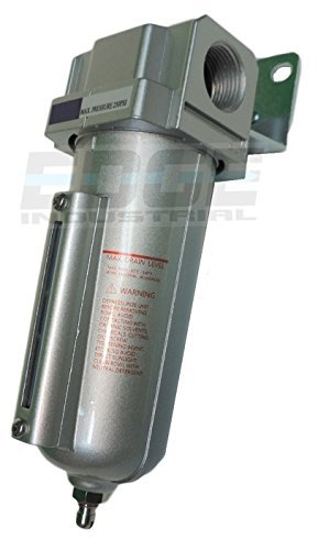 HEAVY DUTY HIGH FLOW COMPRESSED AIR IN-LINE PARTICULATE FILTER WITH METAL BOWL, 3/4
