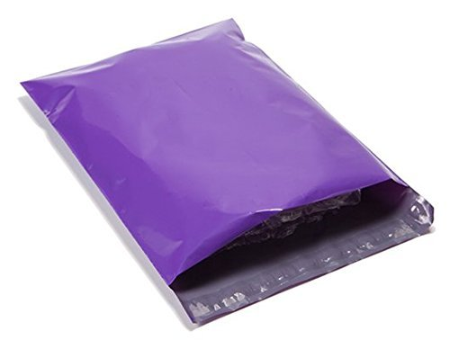 100 10x13 Purple Poly Mailers Shipping Envelopes Couture Boutique Bags :New by WW shop
