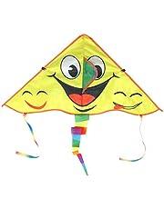 Vlieger, fijn vakmanschap Doek Materiaal Geel Kid Kites met Streamer voor kinderen voor familie Buiten spelen voor aan zee