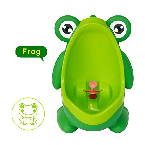 Cute Frog Boys Potty Toilet Trainning with Whirling Target Green Gupamiga by Gupamiga