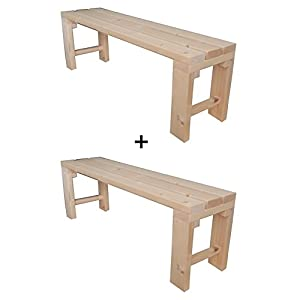 2x Banco de madera para jardín exterior interior 150x38.5x50H DISPONIBLE TANBIEN A MEDIDA