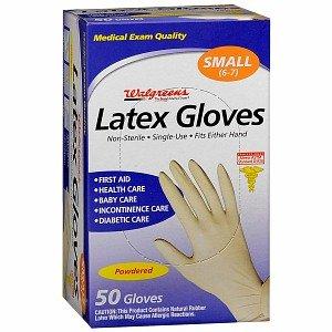 Amazon com: Walgreens Latex Gloves, Powdered, Small, 50 ea