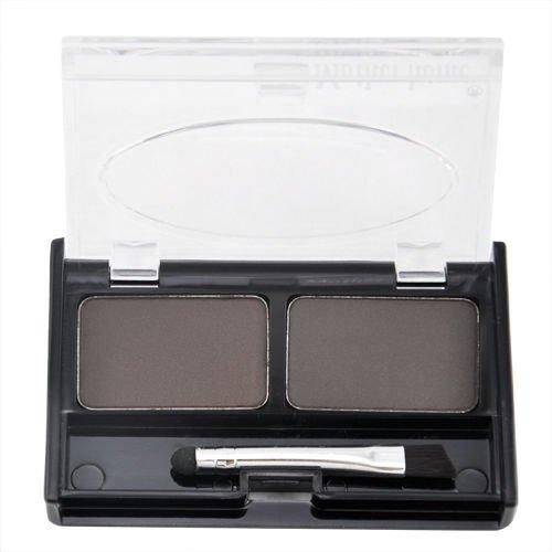 SODIAL (R) Augenbrauen Schablonen & Multi-Farbe Fuer Wasserdichte Augenbrauenkorrektur Puder Augenlidschatten - Kaffee und Schwarz