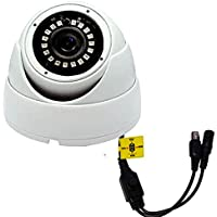 TRIANGLE CCTV AHD TVI CVI ANALOG 720P 960H 1.0 MP INDOOR OSD WDR NIGHT VISION WIDE ANGLE 3.6 mm FIXED LENS PLASTIC WHITE DOME SECURITY CAMERA IR-CUT LOW ILLUMINATION DWDR SENSE-UP 4 IN 1 HYBRID
