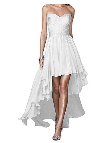 Noche Dama Vestidos Jaeden Largo Honor Gasa Tirantes Vestido Blanco De Fiesta Sin Z0wdEqw