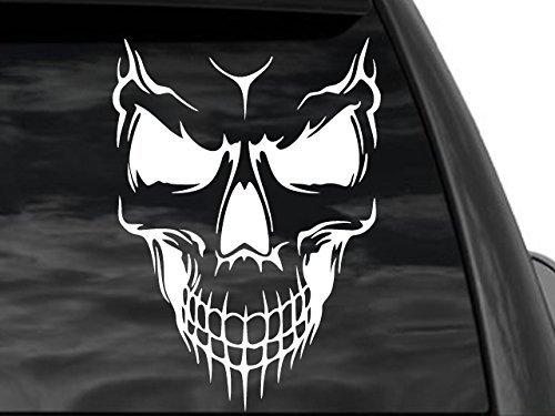 FGD Skull Rear Window Decal in White 8