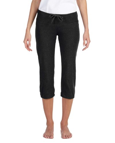 Bella + Canvas Women'S Capri Scrunch Pant (Black) (S)