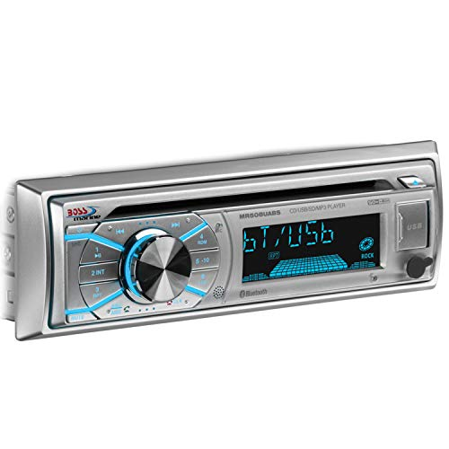 BOSS AUDIO MR508UABS Marine Single-DIN CD Player, Receiver,