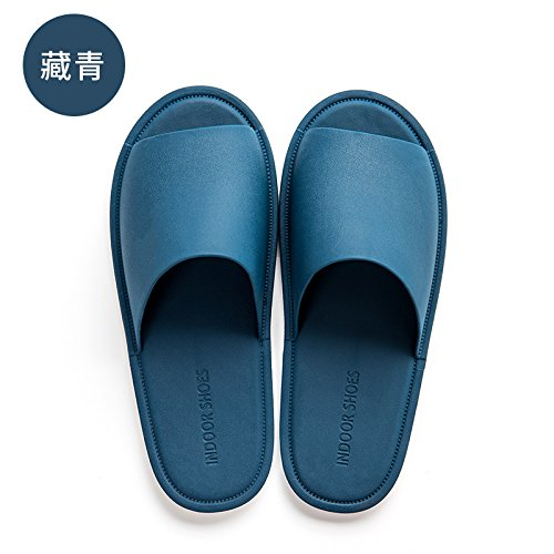 anti 42 household slippers summer men's The slippers slip bath 41 female cool blue dark bottom summer fankou home bathroom indoor soft x8YfUgUqw