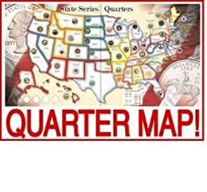 Amazoncom WHITMAN Educational Products Us State Quarters - Us map for quarters