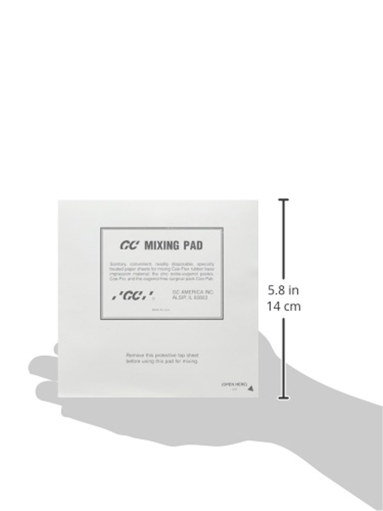 GC America 159112 Mixing Pads, 6'' x 6'' (Pack of 12) by GC America (Image #2)