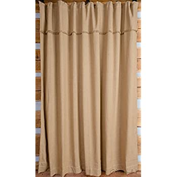 Amazon.com: Deluxe Burlap Natural Tan Shower Curtain: Home & Kitchen