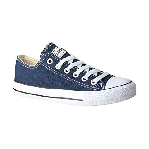 Low Damen 36 Sneaker Schuhe Elara für Textil Herren Unisex 46 Sportschuhe Blau Bequeme Top Turnschuh und C0wf8q