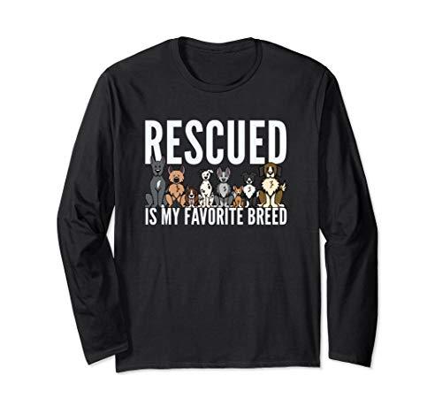 Dog Lovers Long Sleeve Shirt Women Men Kids Rescue Dog Shirt ()