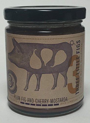 (Three Little Figs Plum Fig and Cherry Mostarda Jam 9.25oz)