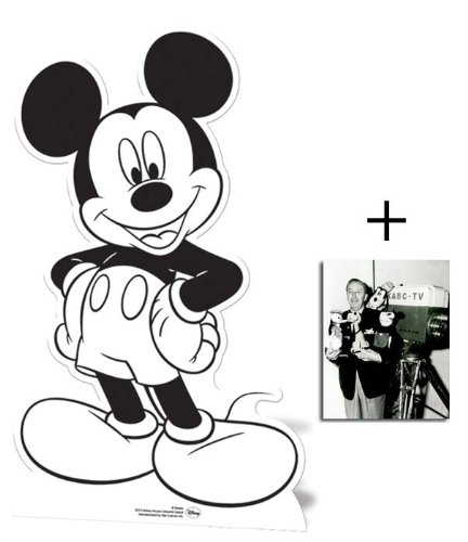 Fan Pack - Mickey Mouse Colour and Keep Cardboard Cutout Standee - Includes 8x10 (20x25cm) Star Photo