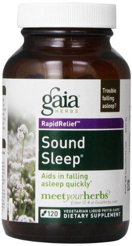 Gaia Herbs Sound Sleep, Vegan Liquid Capsules, 120 Count - Herbal Sleep Aid, Promotes Relaxation and Aids in Falling Asleep Quickly, Organic Kava Kava and Valerian Root