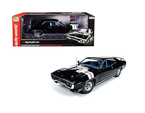 (DIECAST 1:18 American Muscle - 1971 Plymouth GTX AMM1133 by AUTO WORLD)