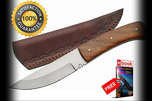 FIXED BLADE HUNTING SHARP KNIFE Rite Edge 9'' Burl for sale  Delivered anywhere in USA