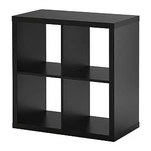Ikea Kallax 4 Shelving Unit Black-Brown