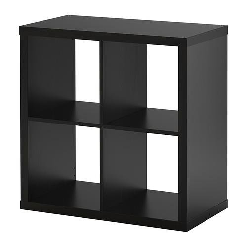 ikea kallax 4 shelving unit black brown. Black Bedroom Furniture Sets. Home Design Ideas