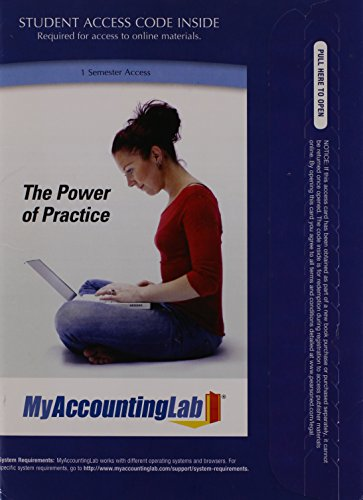 MyAccountingLab with Pearson eText -- Access Card -- for Managerial Accounting