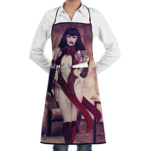 Cool Halloween Bloody Enchantress Vampire Warrior BBQ Waiter Housekeeper Pet Grooming Bartender Kitchen Beautician Hairstylist Nail Salon Carpenter Shoeing Wood Painting Artist Pocket Apron ()