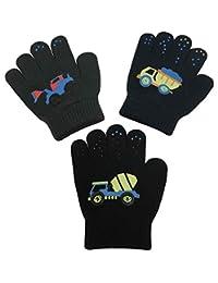 N'Ice Caps Boys Magic Stretch Gloves 3 Pair Pack Assortment