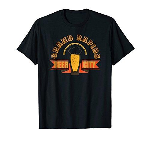 Grand Rapids Michigan Beer City T-Shirt Beer Drinker ()