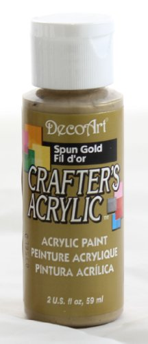 DecoArt Crafter's Acrylic Paint, 2-Ounce, Spun Gold