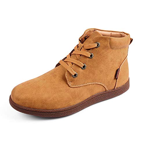 2018 Golden New Alta Simple Bota Con Color Trabajo Coming La Lana Warm Opcional convencional Invierno Yellow Superior Los De Imitación Botas Para Hombres Puro El Tobillo Casual Moda rFqBwr