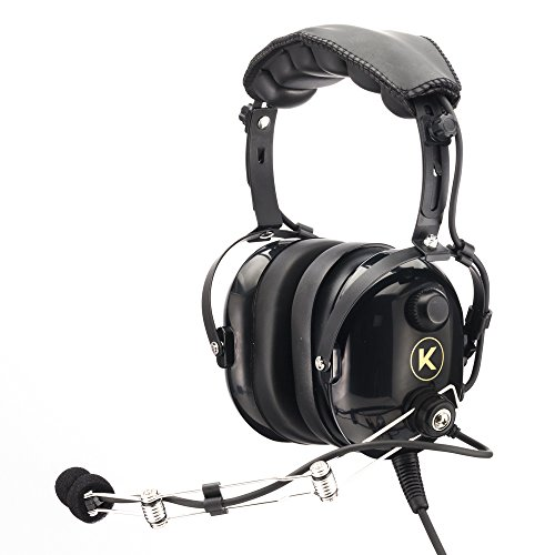 KORE AVIATION P1 Series PNR Pilot Aviation Headset - Black