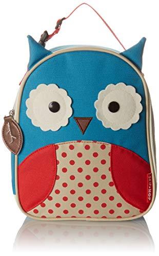 [해외]Skip Hop Baby Zoo Little Kid and Toddler 단열 및 방수 도시락 가방 / Skip Hop Zoo Kids Insulated Lunch Box, Otis Owl, Blue