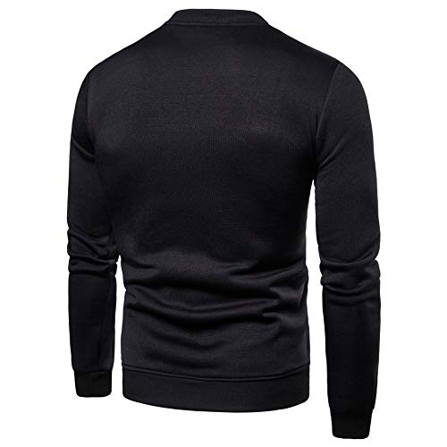 Jacket Stand Black Quilted Solid Collar Howme Sweatshirt Men Casual Pocketed SwzwY4x